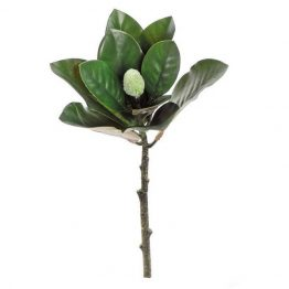 Faux magnolia leaf with bud pick
