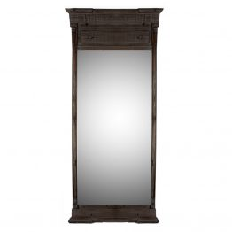 Black Pin Wood Floor Mirror