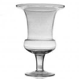 Clear Glass Urn-Shaped Vase