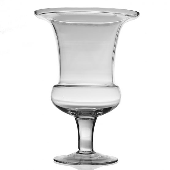 Clear Glass Urn-Shaped Vase
