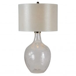 Wine Jug Shaped Clear Textured Glass Lamp