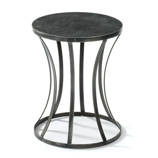 Curved Tin Side Table