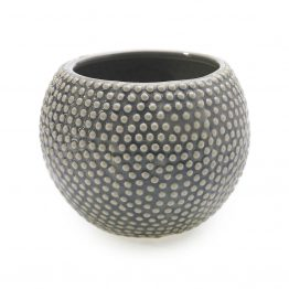 Gray bumpy ceramic vase