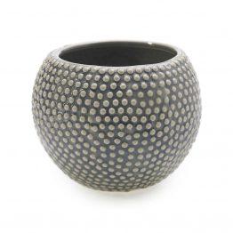 Gray bumpy ceramic vase