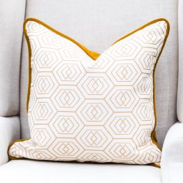 King and Hawk Gold Velvet Pillow