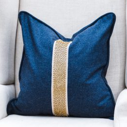 King and Hawk Navy and Gold Pillow