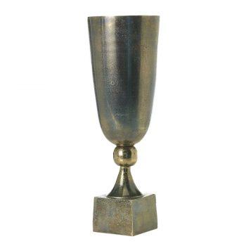 Aluminum metal urn vase