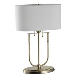 U-Shaped Brass Table Lamp