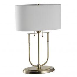 U-Shaped Brass Table Lamp