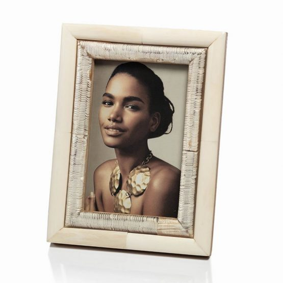 White Bone And Horn Picture Frame