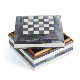 Wood And White Resin Decor Box