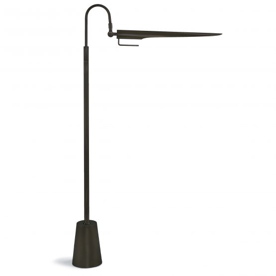 Modern Black Metal Swing Arm Floor Lamp