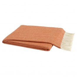 Orange Italian Herringbone Throw Blanket