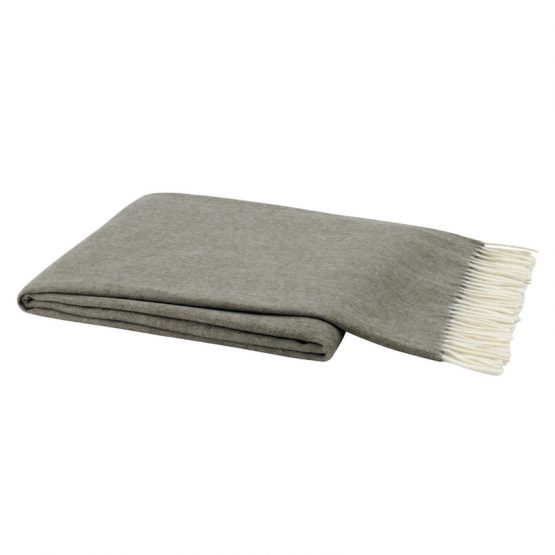 Taupe Italian Tweed Throw Blanket