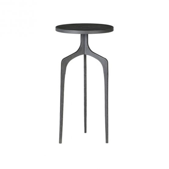 3 Leg Black Metal Side Table