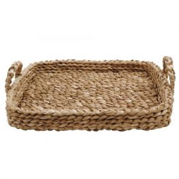 Braided Basket Tray With Handles