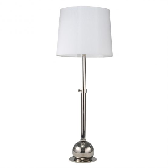 Chrome Table Lamp Adjustable Base