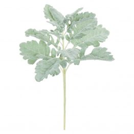 Faux Gray Dusty Miller Stem