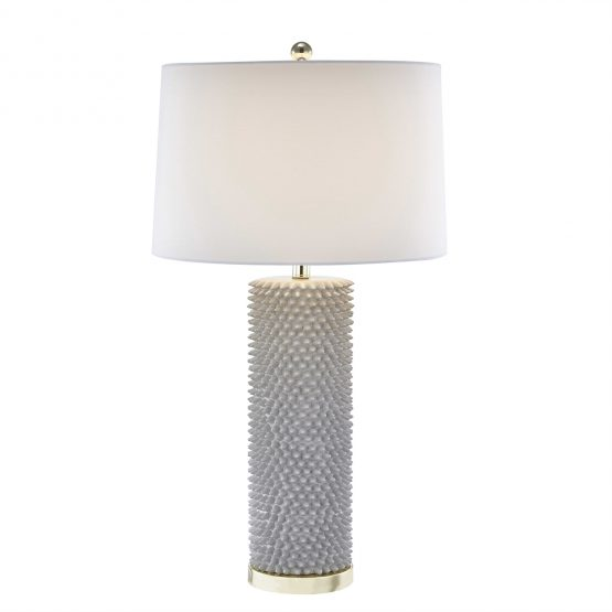 Gray Ceramic Spiky Table Lamp