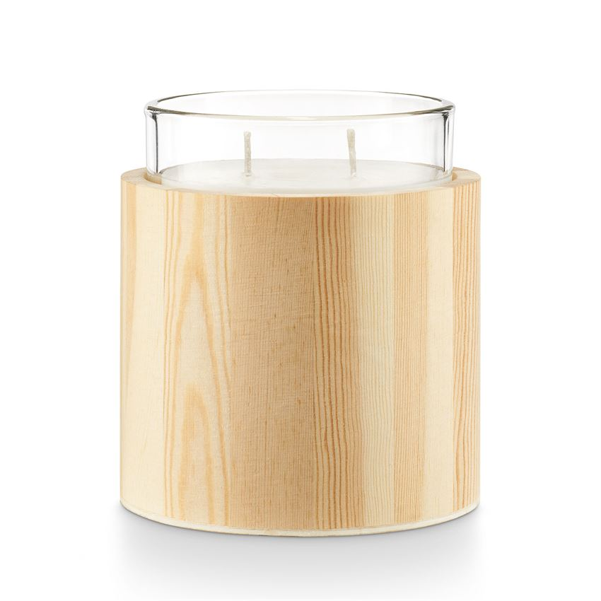 Illume Mountain Rain Scented Candle In Glass With Wood