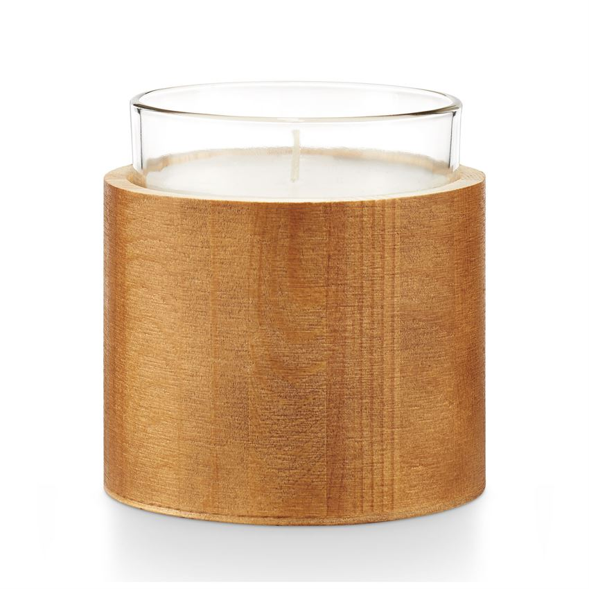Illume Palo Santo Scented Candle In Glass And Wood