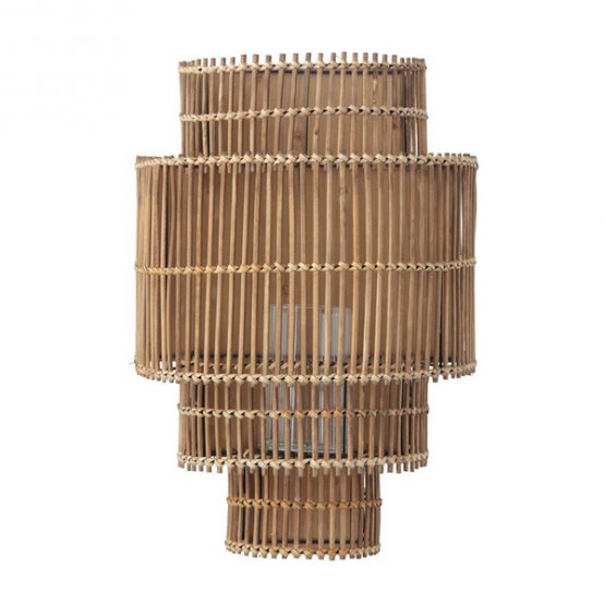 Bamboo Four Tier Candle Wall Sconce