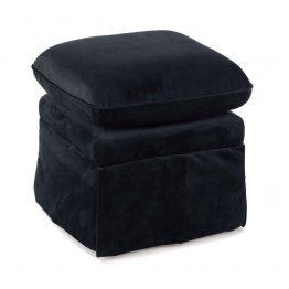 Black velvet ottoman