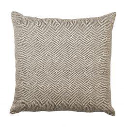 Black White Thin Chevron Herringbone Pillow