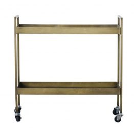 Brass Bar Cart On Casters