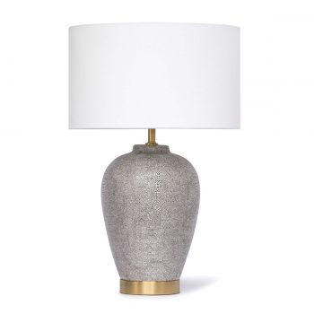 Charcoal textured ceramic table lamp