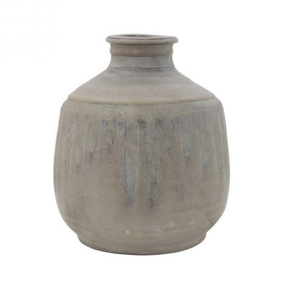 Gray Matte Terra-Cotta Vase