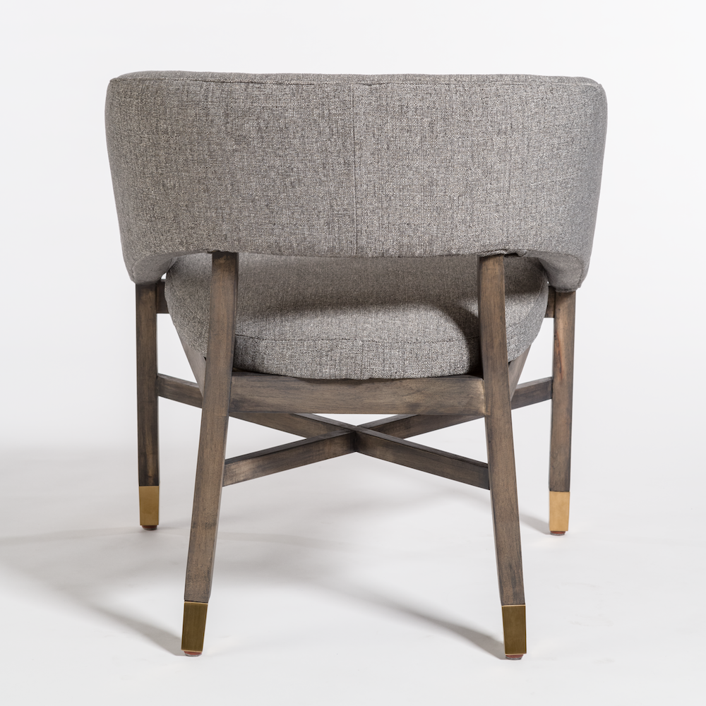 Cool Armand Gray Tweed Dining Chair Lamtechconsult Wood Chair Design Ideas Lamtechconsultcom