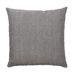 Gray and White Pinstripe Pillow