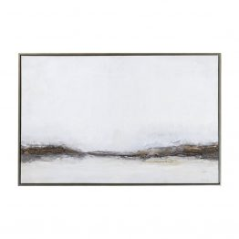 Misty Abstract Art of Neutral Grays and Browns
