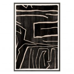 Monochromatic Black and white mud painting inspired print