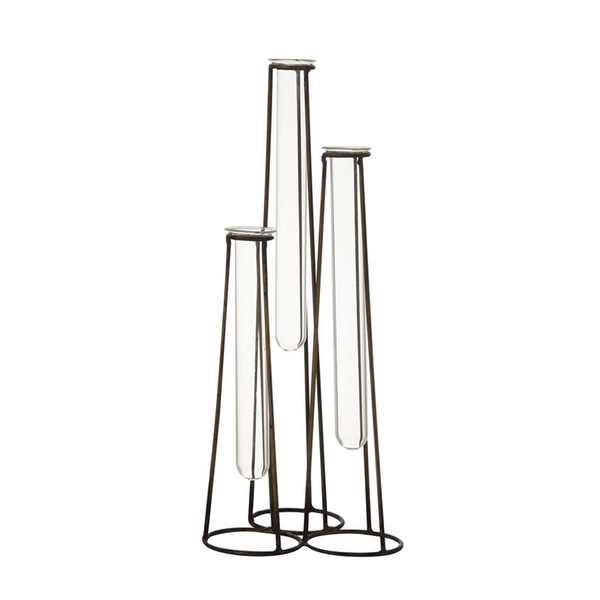 Three Tier Test Tube Glass Vase
