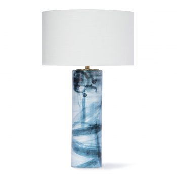 Blue and White Brushstroke Table Lamp