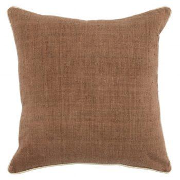 Dark Wheat Silk Pillow