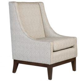 Geometric Chevron Occasional Chair