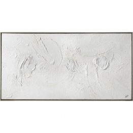 White Textured Abstract Art