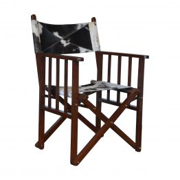 Cowhide Directors Chair