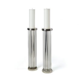 Glass Tube Pillar Candleholder Set