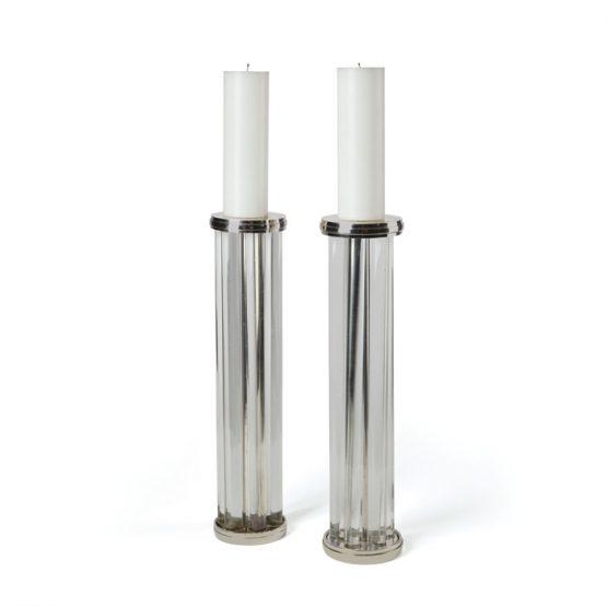Glass Tube Pillar Candleholder Set