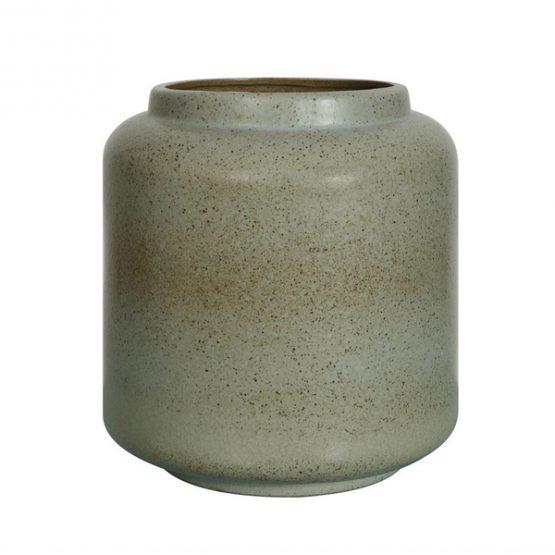 Green Stoneware Vase