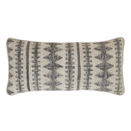 Natural And Gray Diamond Pattern Lumbar Pillow