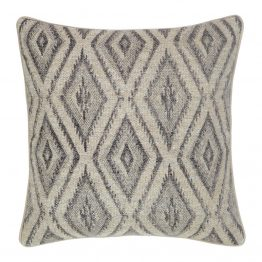 Natural And Gray Diamond Pattern Pillow