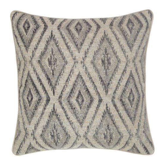 Natural And Gray Diamond Pattern Pillow