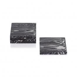 Black And White Marbled Stone Coasters