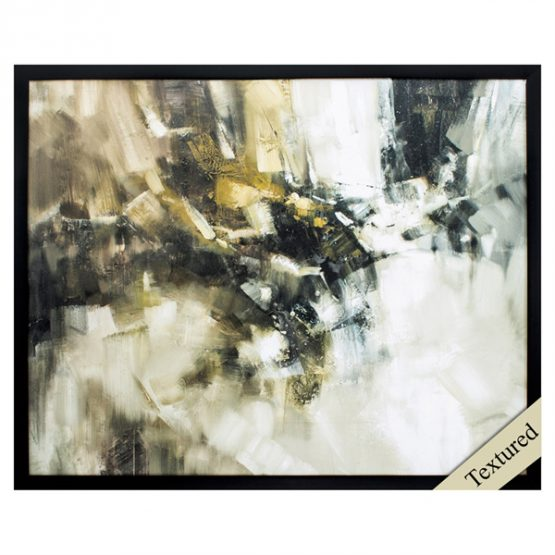 Black White and Yellow Abstract Art