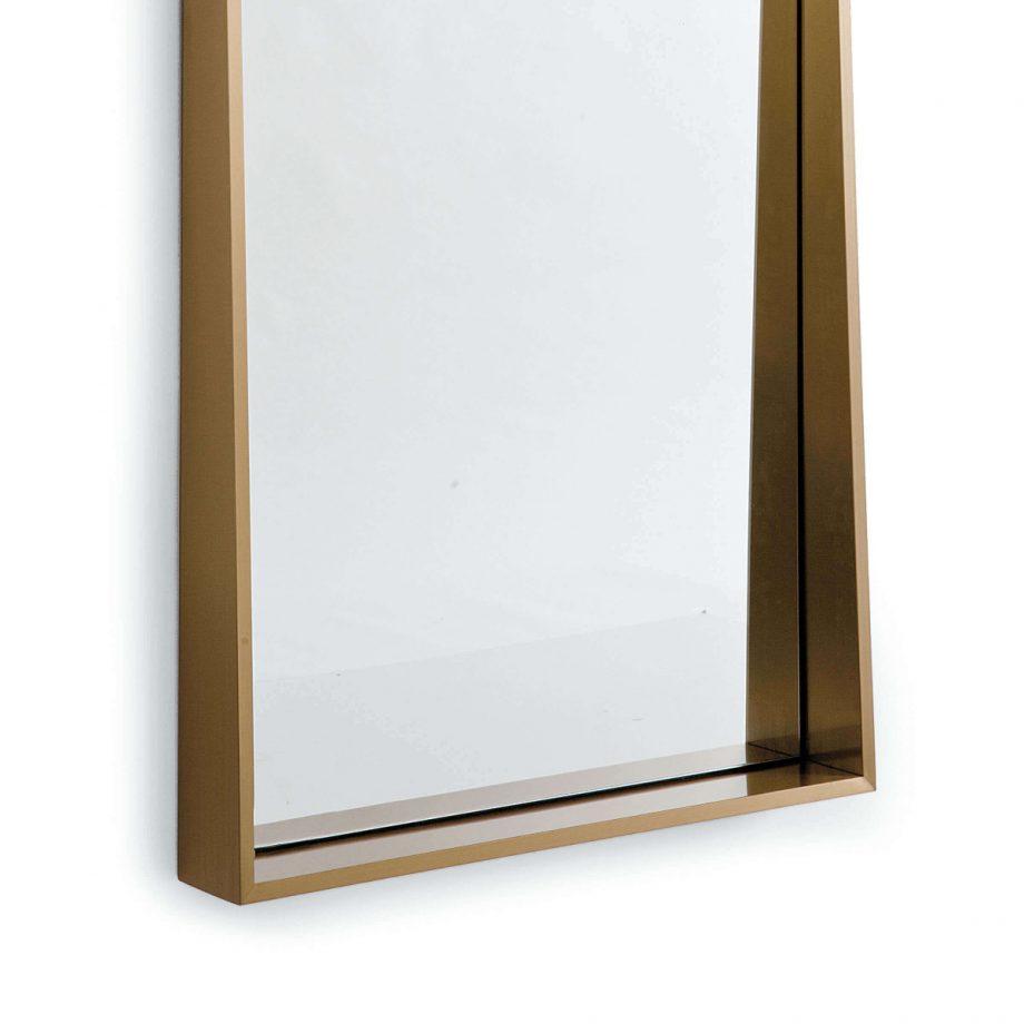 Brass Angled Wall Mirror